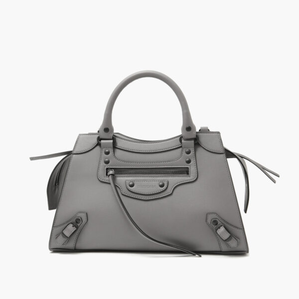 Neo classic small top handle bag grey