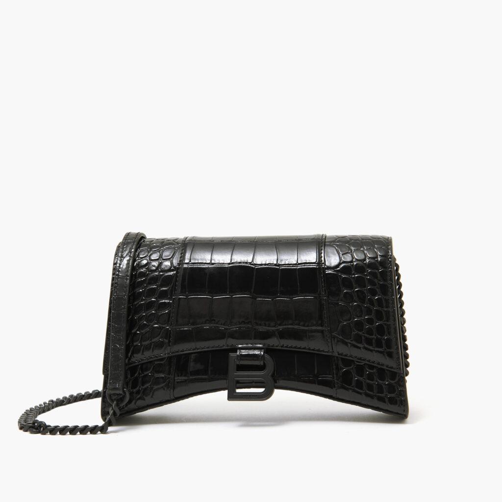 Balenciaga Hourglass Chain Bag Black