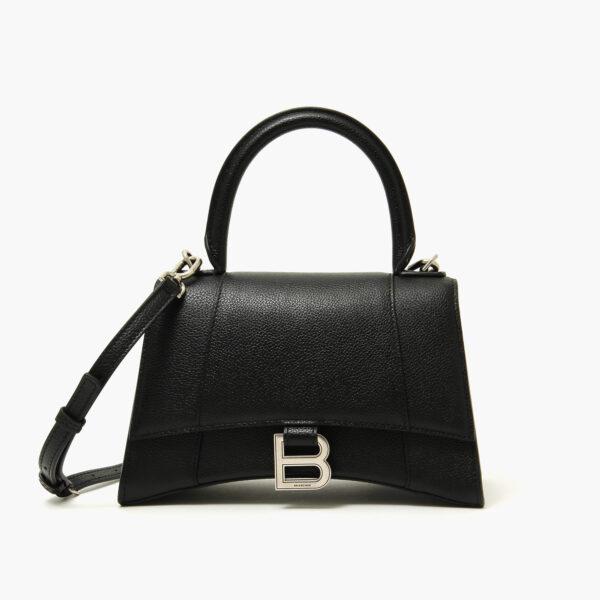 Balenciaga Hourglass Small Top Handle Bag Black 1
