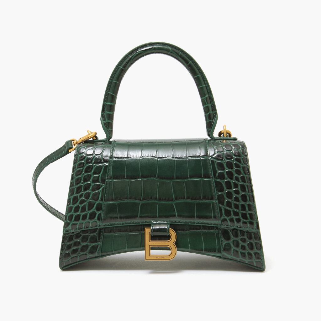 Balenciaga Hourglass Small Top Handle Bag Forest Green