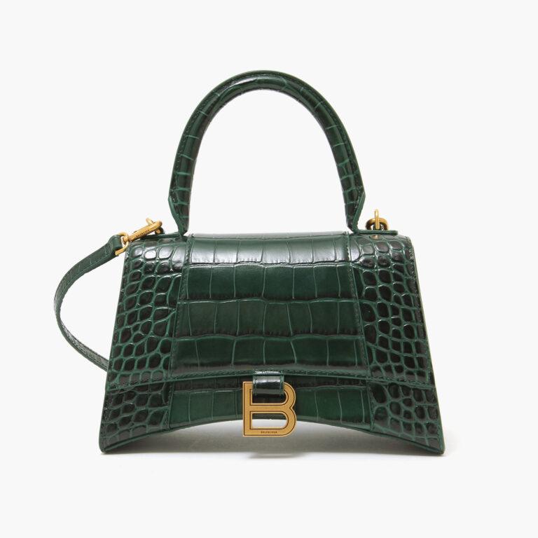 Balenciaga Hourglass Small Top Handle Bag Forest Green