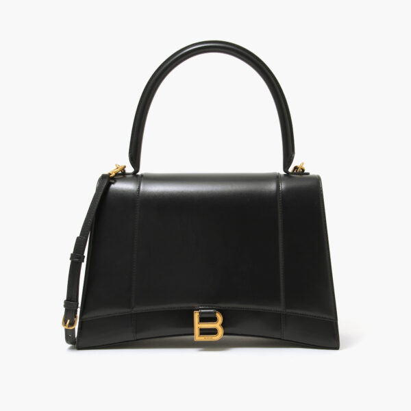 Balenciaga Hourglass top handle bag black