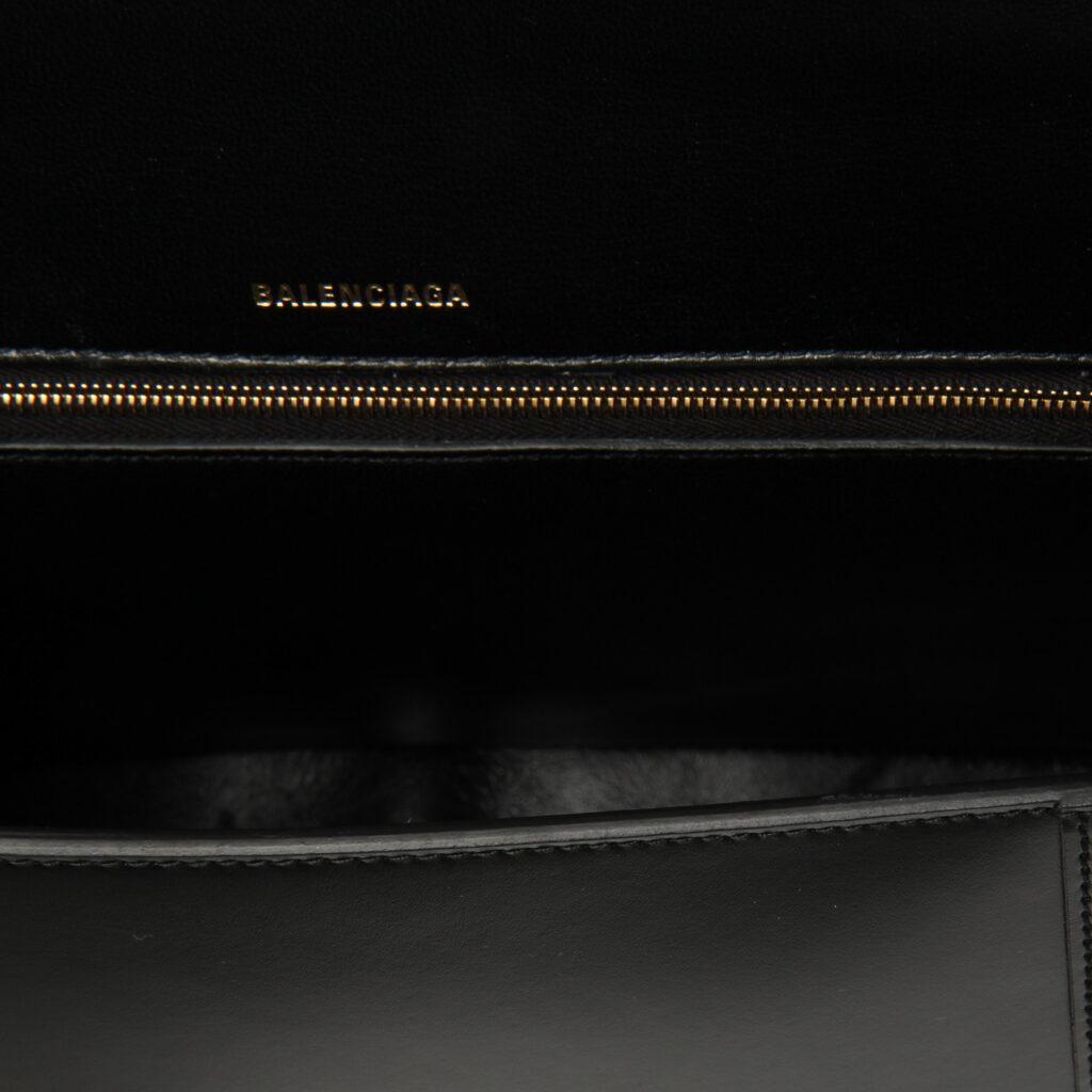 Balenciaga Hourglass top handle bag black