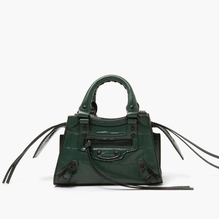 Balenciaga Neo classic mini top handle bag forest green