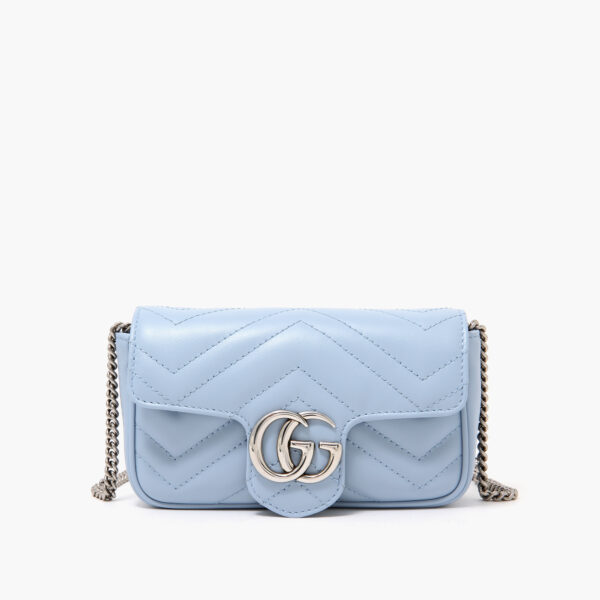 GG Marmont Super Mini Bag Blue
