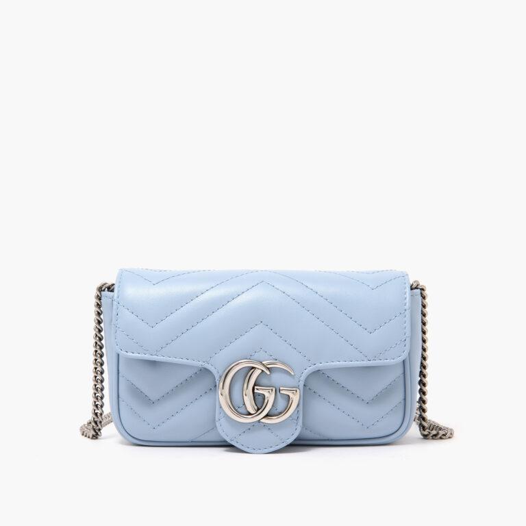 GG Marmont Super Mini Bag Blue