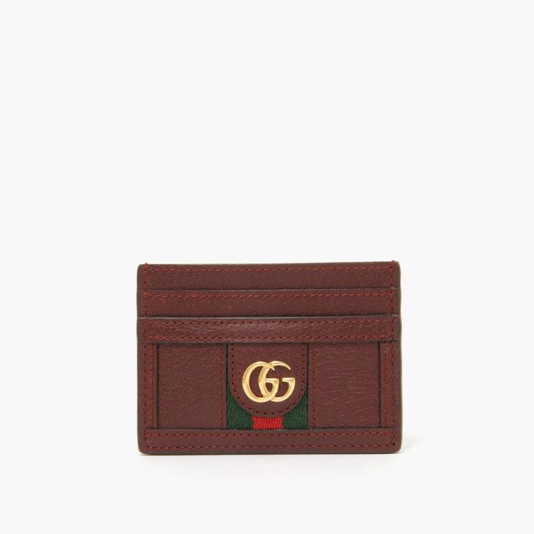 Gucci cardholder burgundy