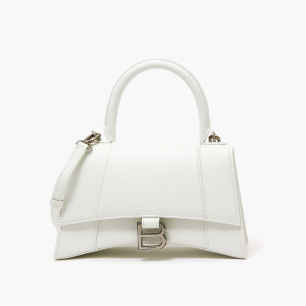 Balenciaga Hourglass Small Top Handle Bag White