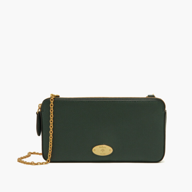 mulberry plaque wallet on chain mulberry green