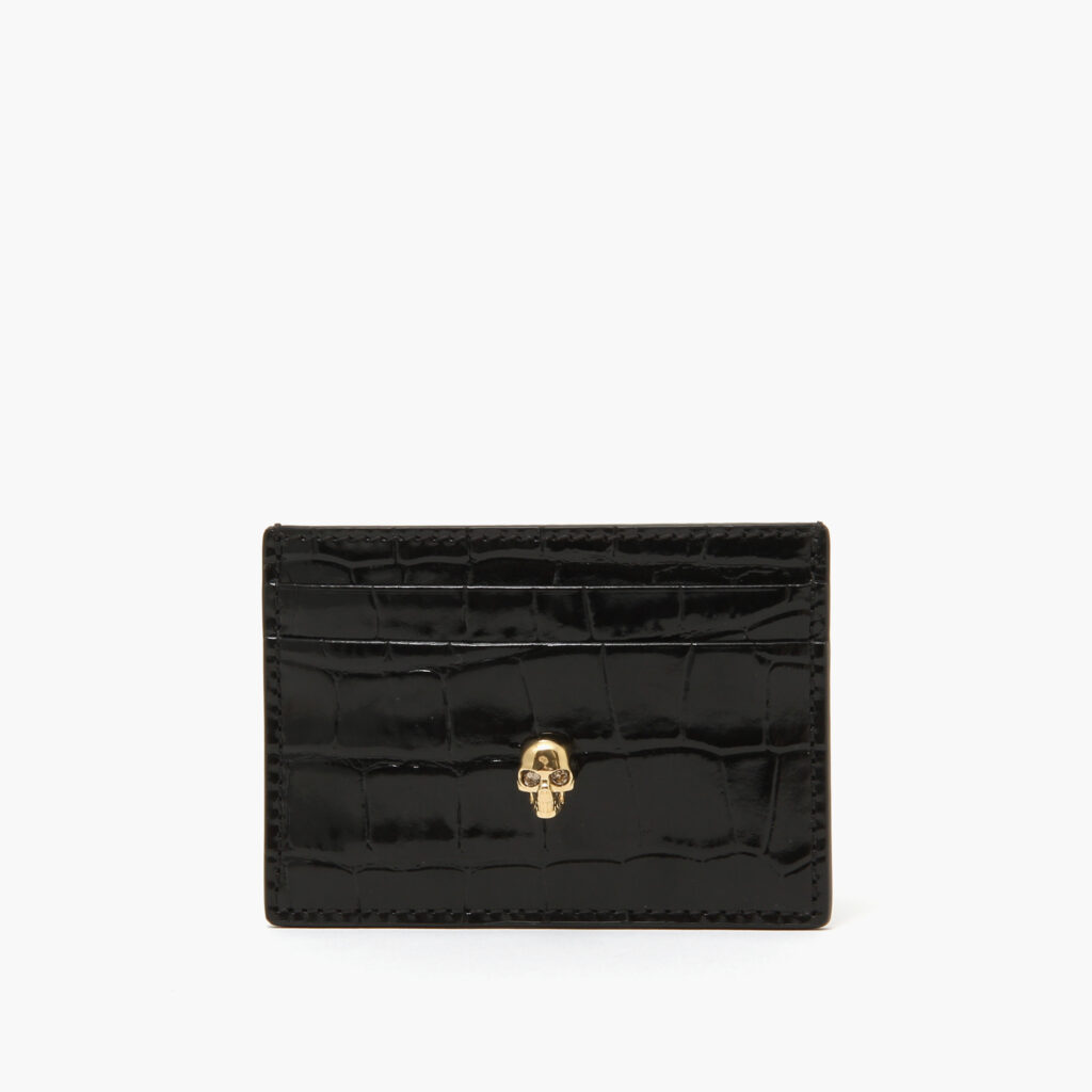 Alexander McQueen Skull Card Holder Black