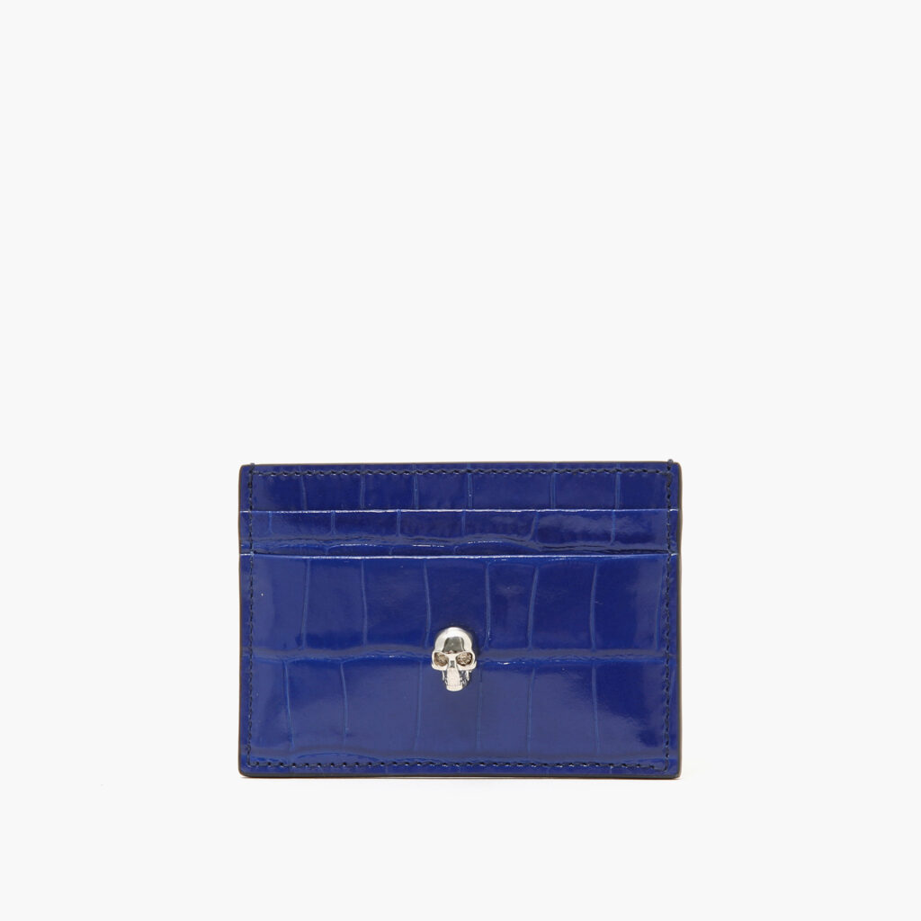 Alexander McQueen Skull Card Holder Blue
