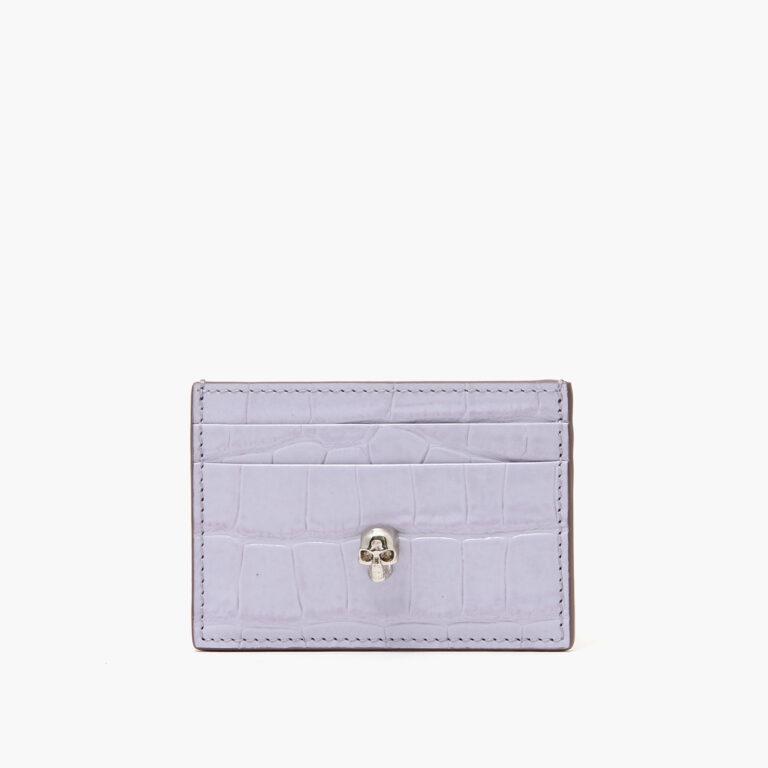Alexander McQueen Skull Card Holder Lavender