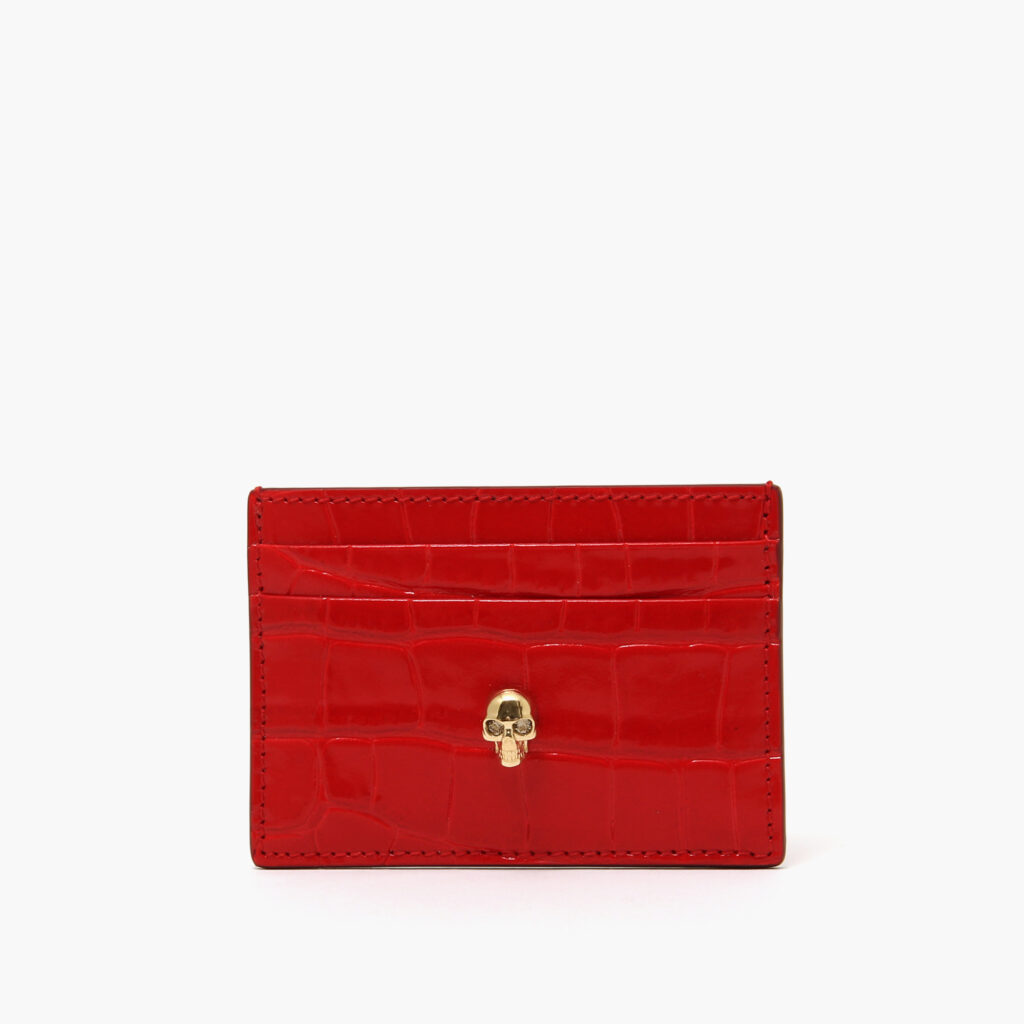 Alexander McQueen Skull Card Holder Red