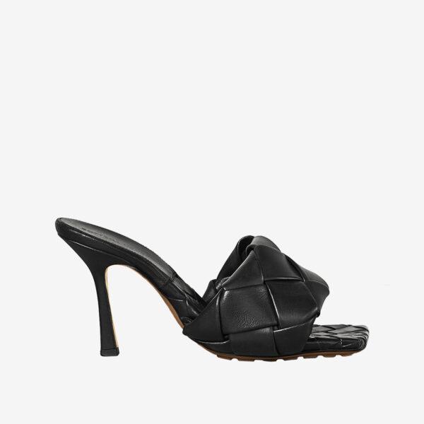 Bottega Veneta Lido Sandals Black