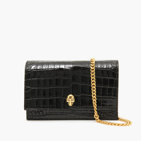 Alexander McQueen Medium Skull Bag Black