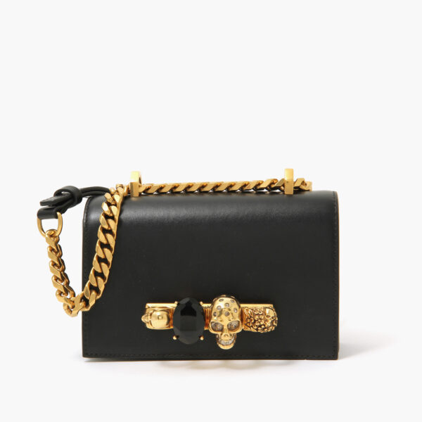 Alexander McQueen Jewelled Satchel Black