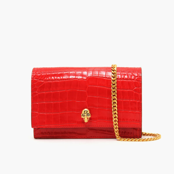 Alexander McQueen Medium Skull Bag Red