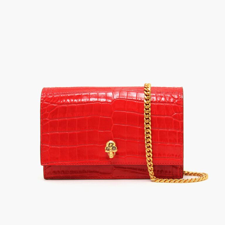 Alexander McQueen Medium Skull Bag Red