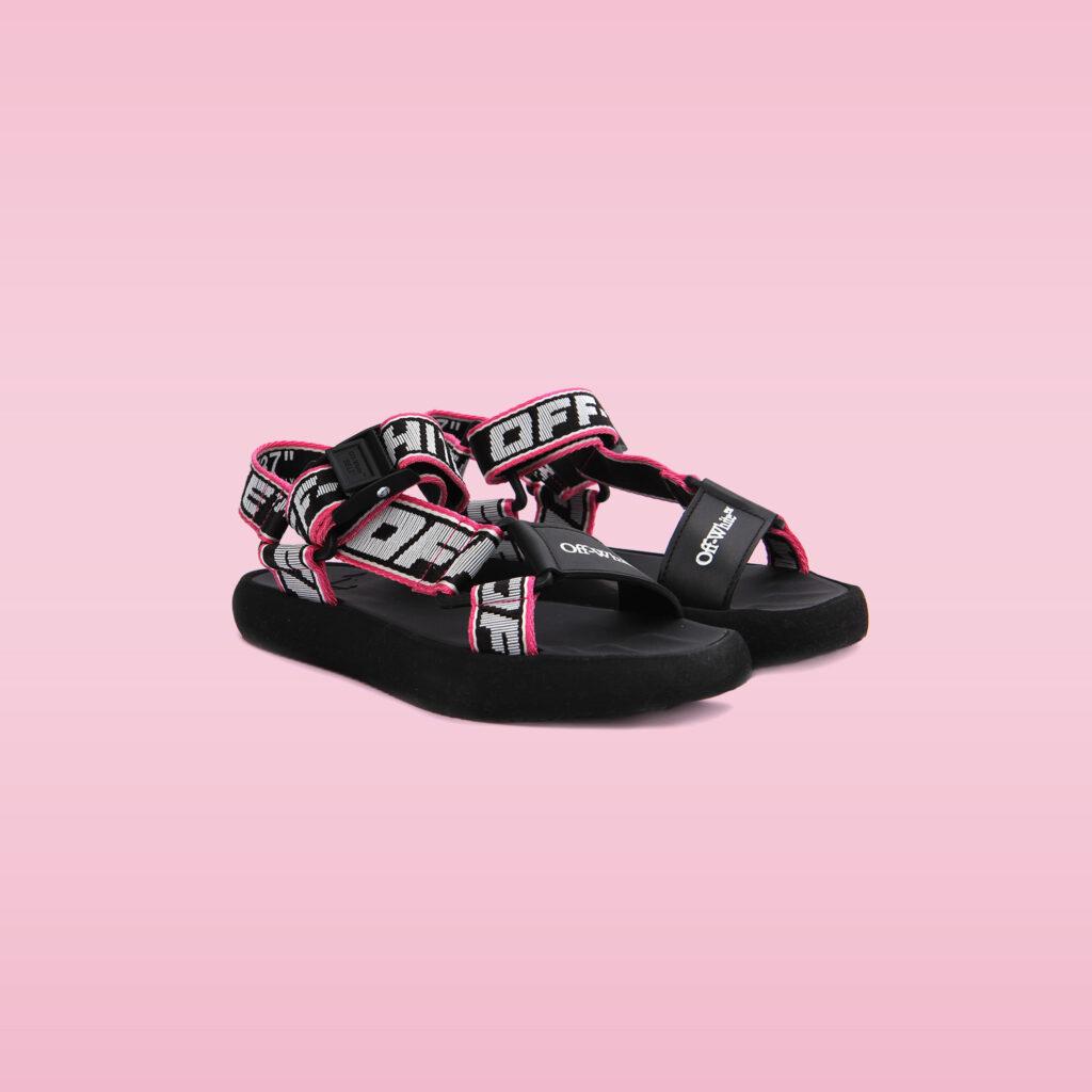 sandaler från Off-White och Balenciaga på imagegroup.se NK Runway